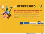 Capture d'écran du site Métiers.info
