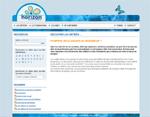 Capture d'écran du site Horizons info