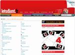 Copie d'écran du site de l'Etudiant