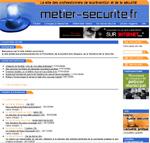 capture ecran site internet métiers de la sécurité